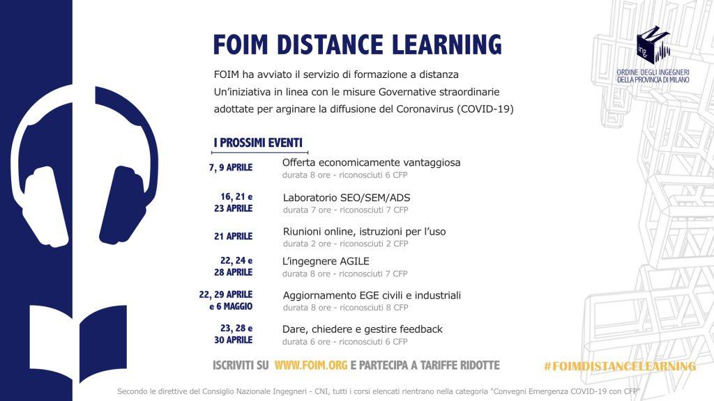 FOIM DISTANCE LEARNING